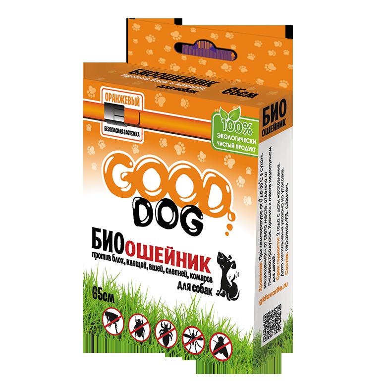 Антипаразитарные средства Антипаразитарный биоошейник для собак и щенков, Good Cat, от блох и клещей, оранжевый, 65 см 14318.png