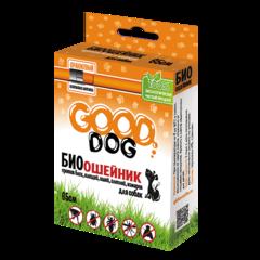 Антипаразитарный биоошейник для собак и щенков, Good Cat, от блох и клещей, оранжевый, 65 см