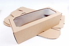 Набор (из 5шт) Коробка-трансформер с окном МГК крафт 13х33 h=9 см.