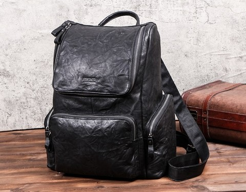 Мужской кожаный рюкзак Contacts MB135