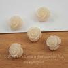 """Бусина Коралл (искусств, тониров), """"Роза"""", цвет - кремовый, 11х11х8 мм"""