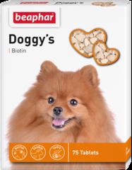 Beaphar Doggy's Biotin витамины для собак с биотином 75 таб