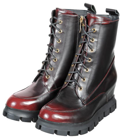 466 nappa nero/bordo ботинки  женские Francesco