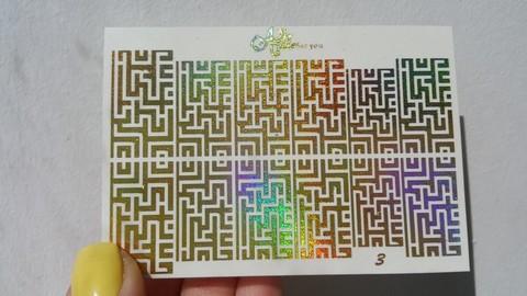 Слайдер фольгированный №003-ЗГ РА