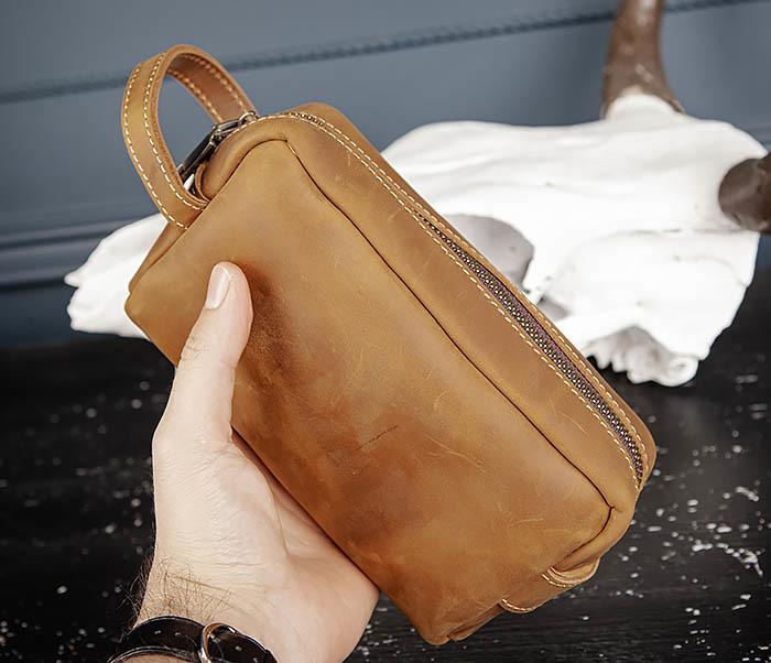 BAG518-2 Вместительный несессер из натуральной кожи фото 06