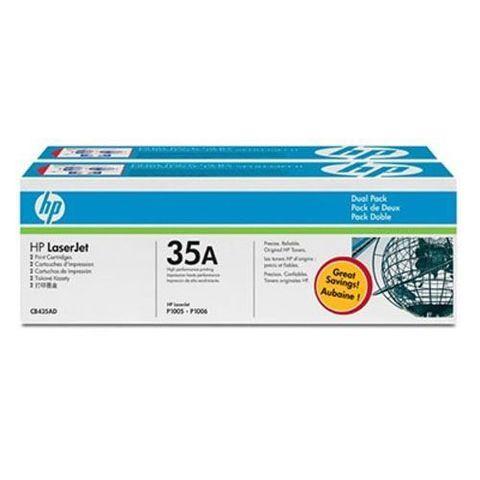Картридж HP CB435AD двойная упаковка картриджей для принтеров Hewlett Packard LaserJet P1005 P1006 цена 3542 (Ресурс 2х1500 стр)