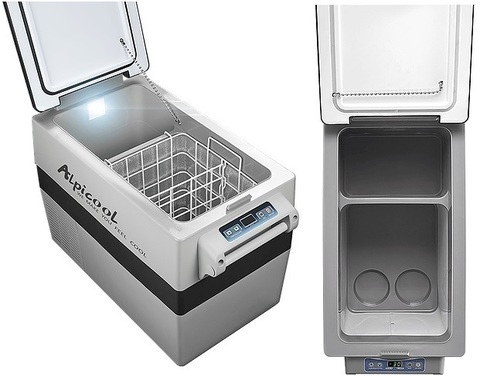 Компрессорный автохолодильник Alpicool CF-55 (12V/24V/220V, 55л)
