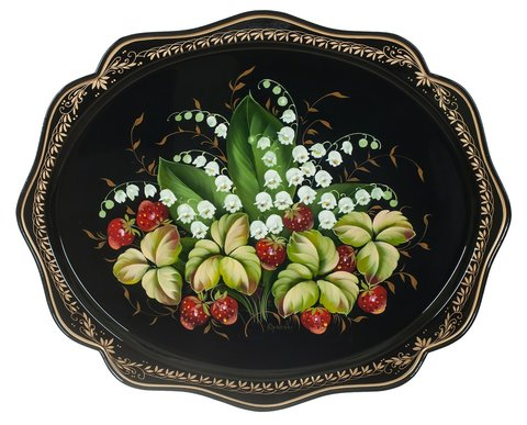Zhostovo metal tray А15170419019