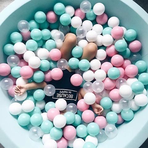 Сухой бассейн Anlipool 100/40см мятный комплект №23 Mint Bubble