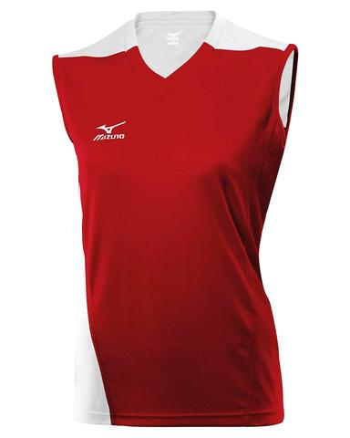 Волейбольная футболка Mizuno Trade SleeveLess женская красная