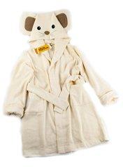 Детский  банный  махровый  халатик Funny Mouse кремовый