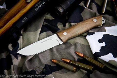 Охотничий нож Охотник М Полированный Орех