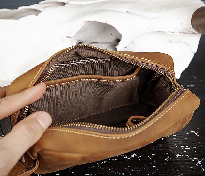 BAG518-2 Вместительный несессер из натуральной кожи фото 08