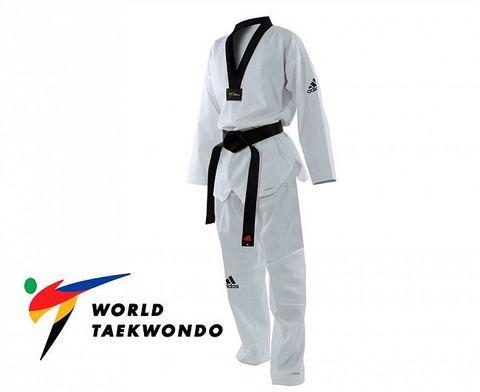 Добок для тхэквондо Adizero Pro WT белый с черным воротником