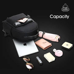 Рюкзак мини BOPAI чёрный с цепочкой