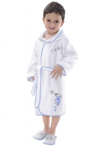 Халат детский махровый для мальчика  FOOTBALLER - ФУТБОЛИСТ / Soft Cotton (Турция)