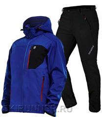 Лыжный утепленный костюм 8848 Altitude Daft Softshell blue Noname Grassi 18