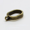 Бейл для плоского шнура 10х7 мм (цвет - античная бронза) 16х3 мм