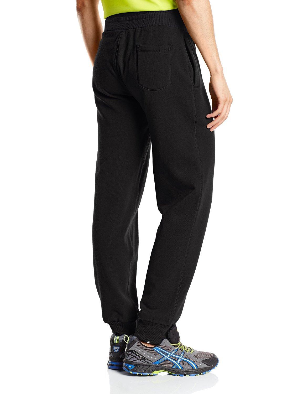 Мужские спортивные штаны асикс Graphic Brushed Cuffed Pant (127639 0904) черные