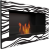 Биокамин Kratki Golf Zebra со стеклом