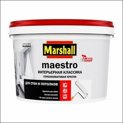 Краска латексная для стен и потолка Marshall MAESTRO Интерьерная Классика (Белый)
