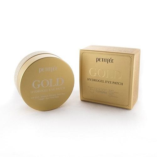 Патчи гидрогелевые для области вокруг глаз с 24-каратным коллоидным золотом Koelf / Petitfee Gold Hydrogel Eye Patch 60шт