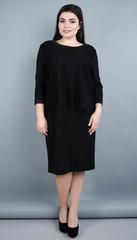 Винтаж. Оригинальное женское платье плюс сайз. Черный.