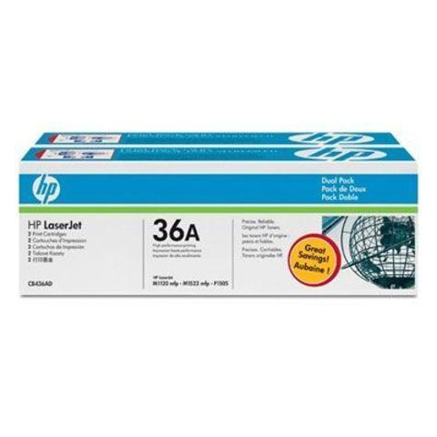 Картридж HP CB436AF / CB436AD двойная упаковка картриджей для принтеров Hewlett Packard LaserJet P1505 P1505n M1120 M1120n M1522n M1522n (Ресурс 2х2000 стр.)