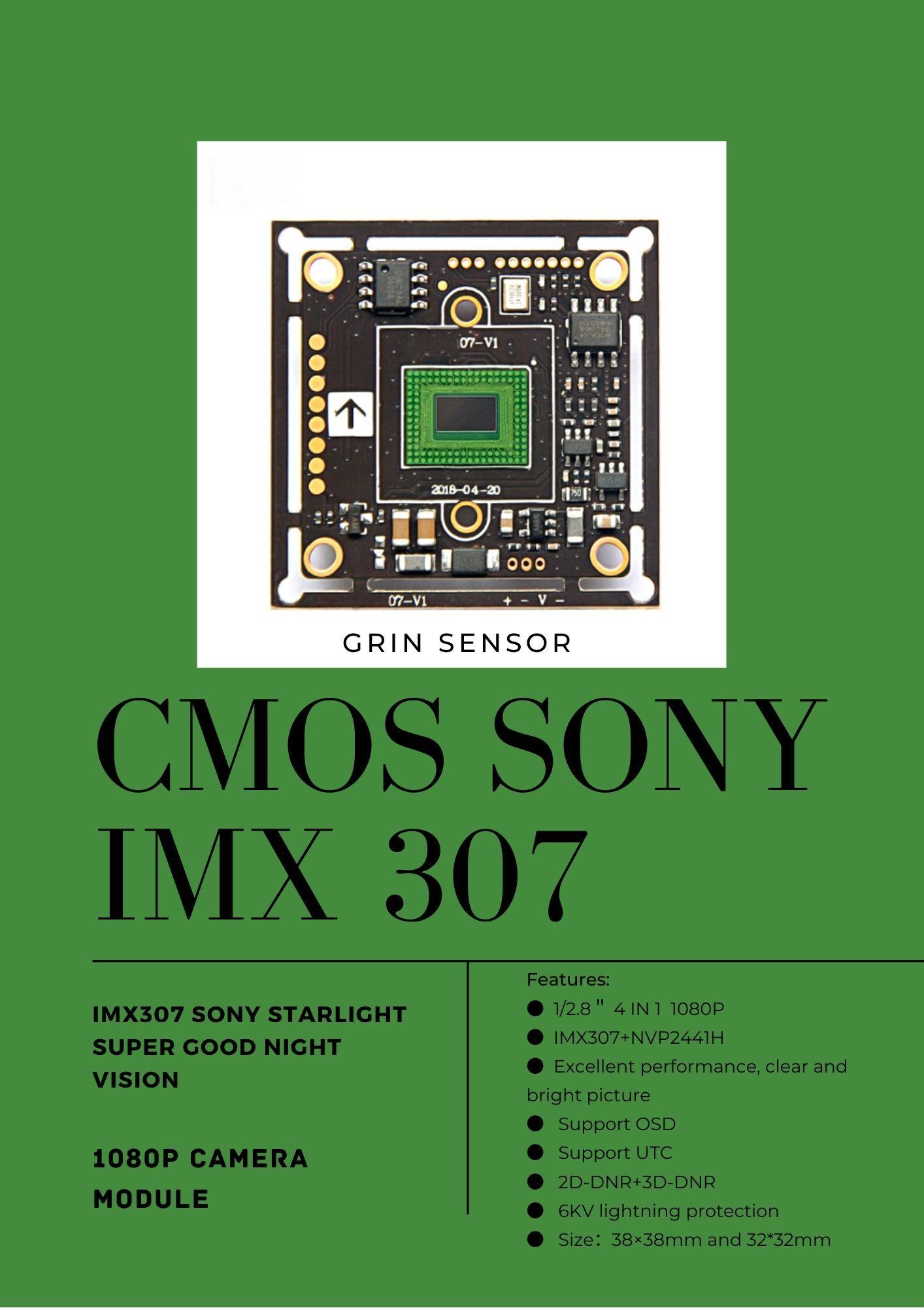 CMOS SONY IMX 307 GRIN SENSOR