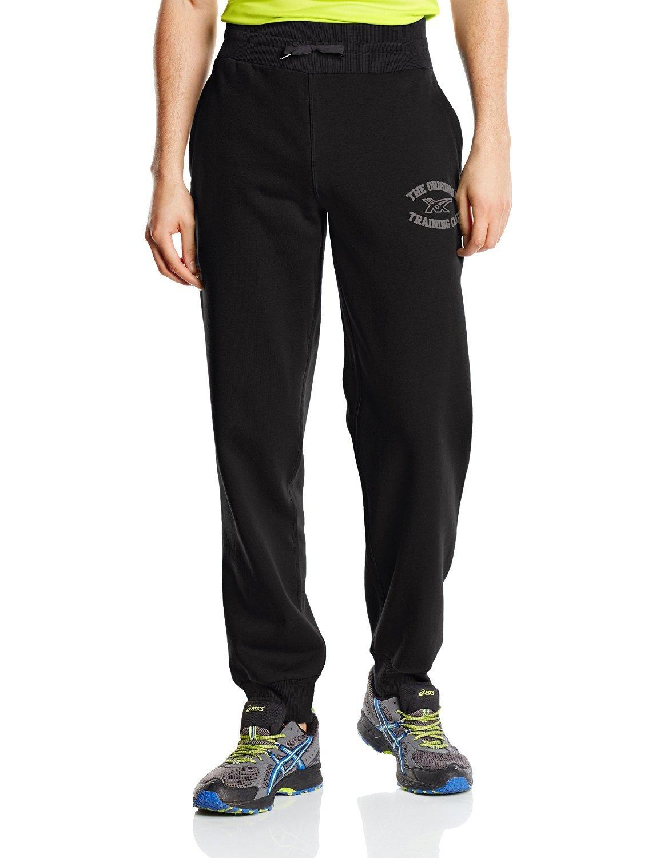 Мужские спортивные штаны Asics Graphic Brushed Cuffed Pant (127639 0904) черные фото