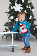Лапушка. Джемпер новогодний Санта Клаус