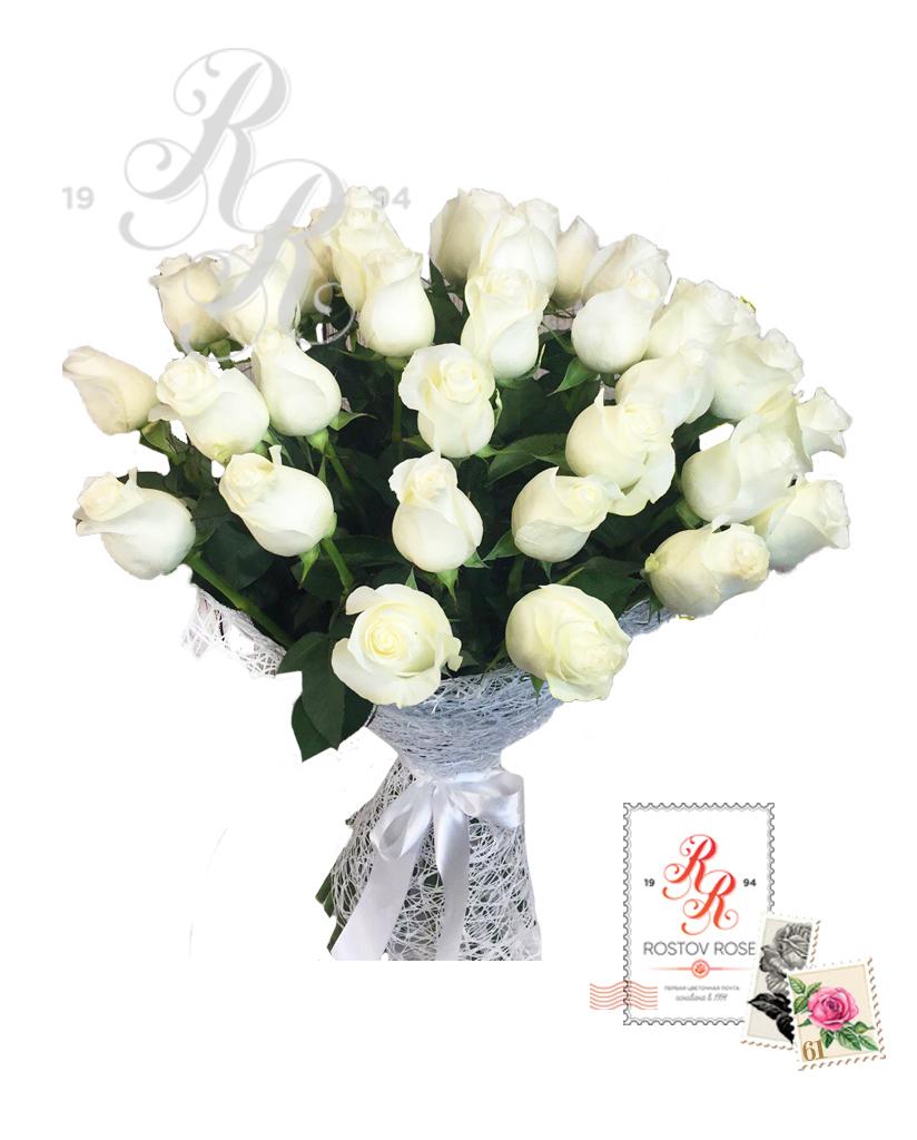 Букет 15 белых роз (Эквадор)