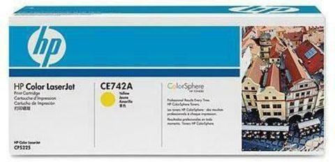 Картридж HP CE742A для HP Color LaserJet Professional CP5225, CP5225n, CP5225dn (желтый, 7300 стр.)