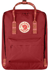 Рюкзак Fjallraven Kanken Classic Deep red/ Folk pattern