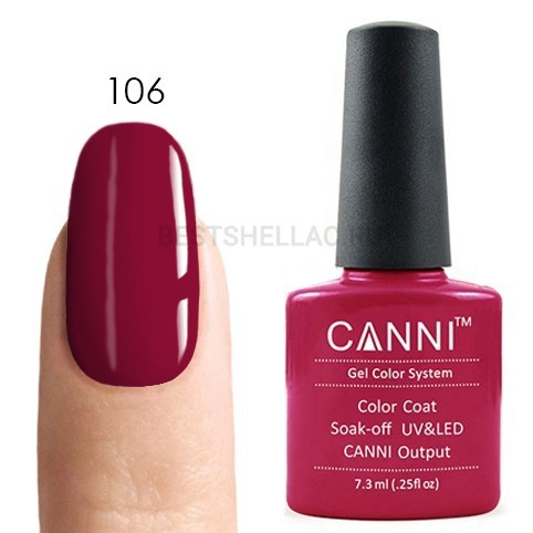 Canni Canni, Гель-лак 106, 7,3 мл 106.jpg