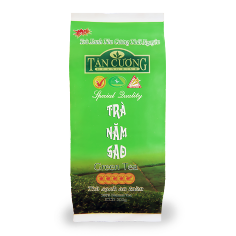 Вьетнамский зеленый чай Tan Cuong Tra Nam Sao, 5 звезд, 200 гр.