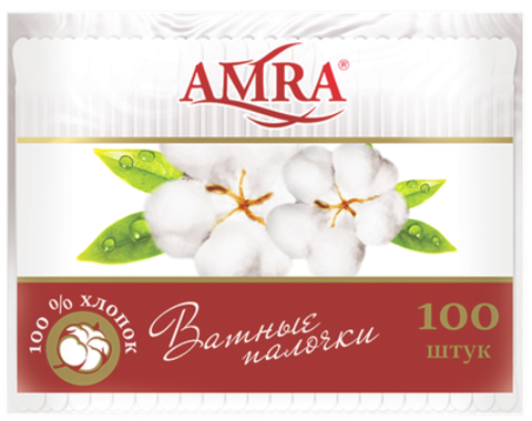 Bumfa Group Amra Ватные палочки (в пакете) 100шт