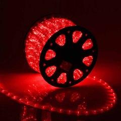 Дюралайт светодиодный, чейзинг, 11мм - 3 жилы - 24 led/m, Красный - 50м