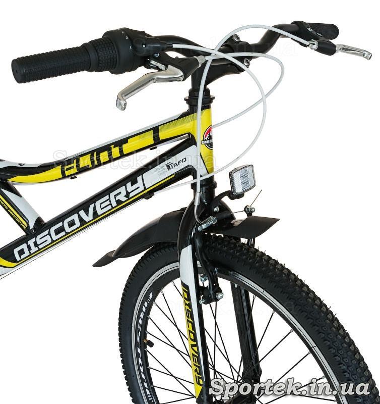 Вилка, кермо і переднє колесо підліткового велосипеда Discovery Flint