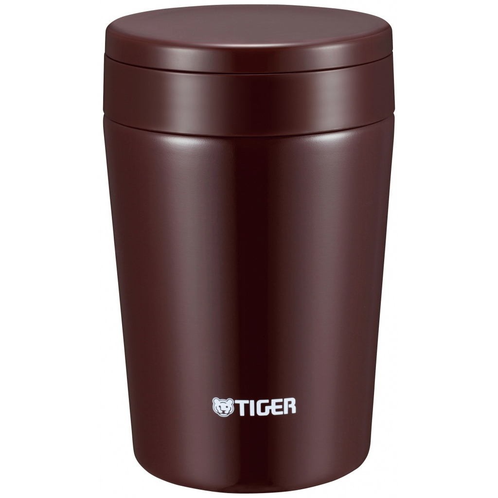 Термос для еды Tiger MCL-A038 Chocolate Brown (0,38 л), шоколадный