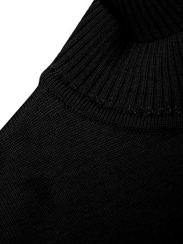 Черный джемпер свободного силуэта из шёлка с кашемиром - фото 3