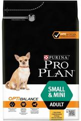 Сухой корм, Purina Pro Plan, для взрослых собак мелких и карликовых пород, с курицей и рисом