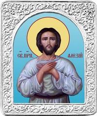 Святой Алексий. Маленькая икона в серебряной раме.