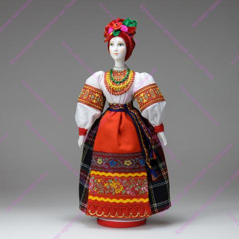 Василина - фарфоровая кукла в украинском костюме