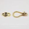 Замок - крючок из 2х частей 35х11 мм (цвет - античное золото)