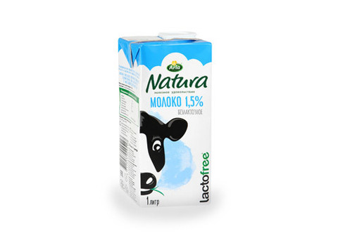 Молоко 1,5% безлактозное Arla Natura, 1л