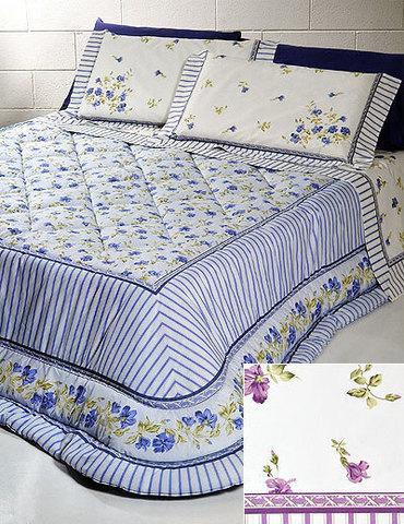 Постельное белье 2 спальное евро макси Cassera Casa Savoy голубое