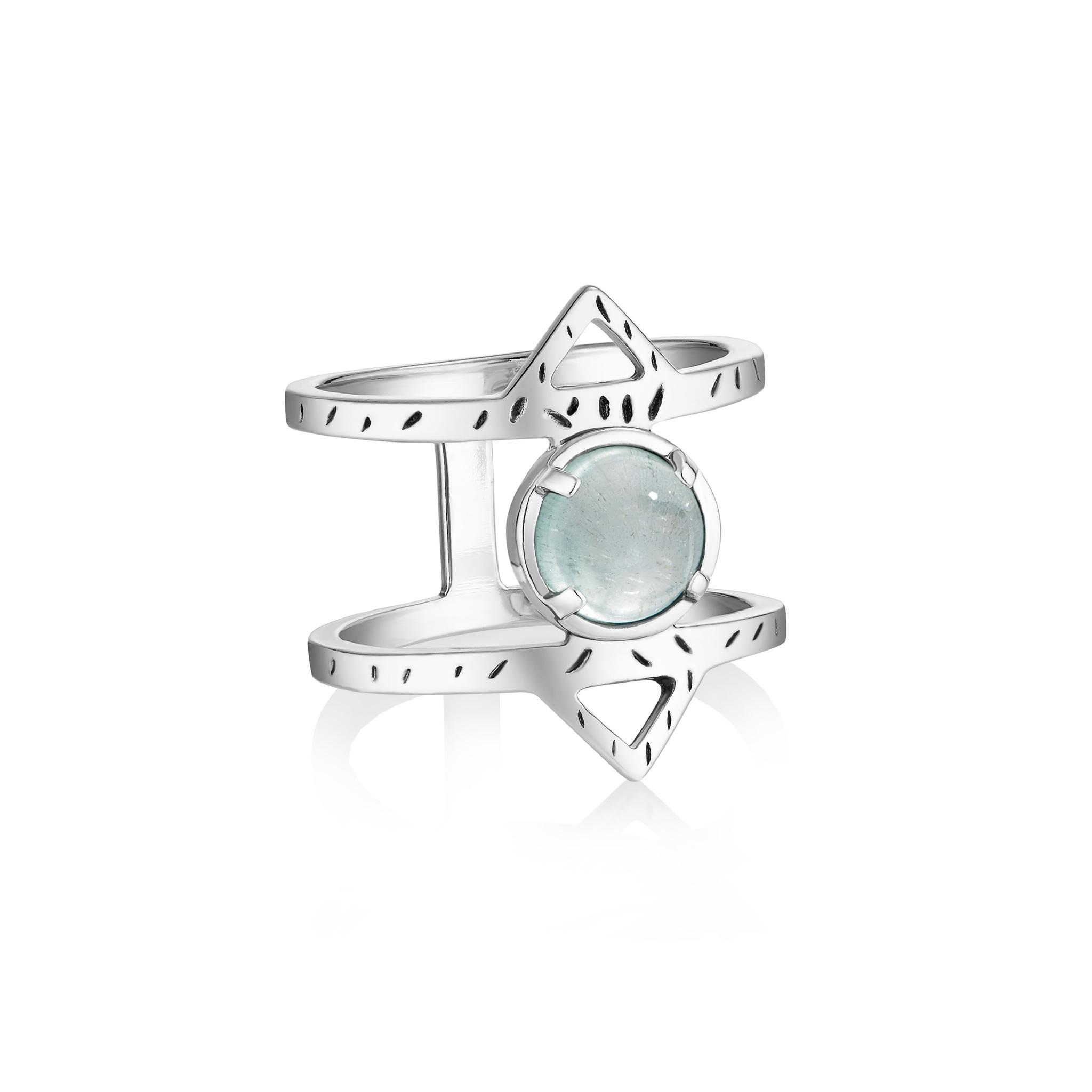 Кольцо ATHENA - Аквамарин