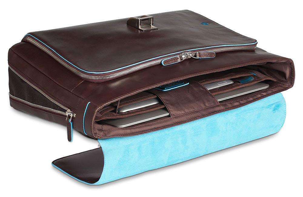 Портфель Piquadro Blue Square, цвет коричневый, 41х30х10 см (CA3111B2/MO)