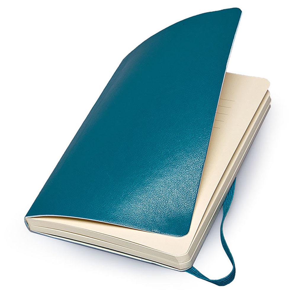 Блокнот Moleskine Classic Soft Large, цвет бирюзовый, без разлиновки